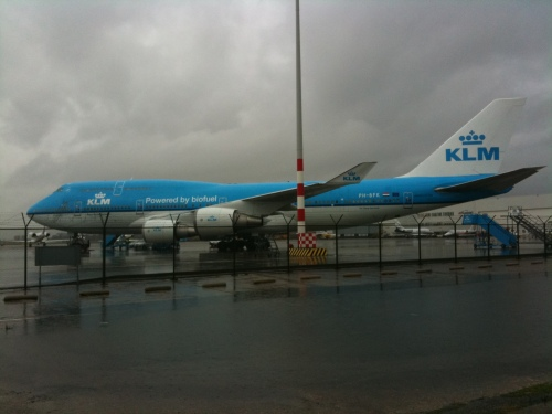 KLM biofuel plane