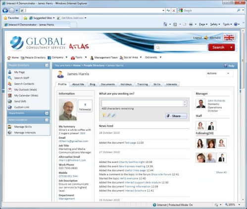 Interact Intranet People Directory